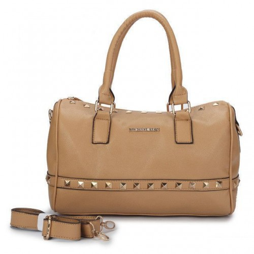Michael Kors Studded Medium Beige Satchels